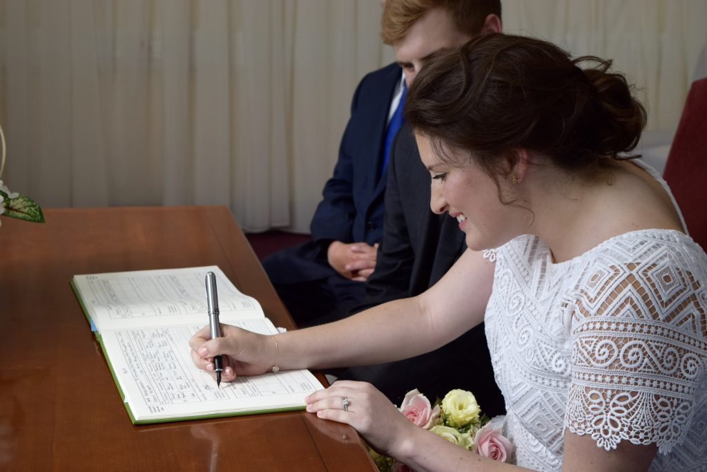 Our Intimate London Wedding - ceremony at Lambeth Register Office