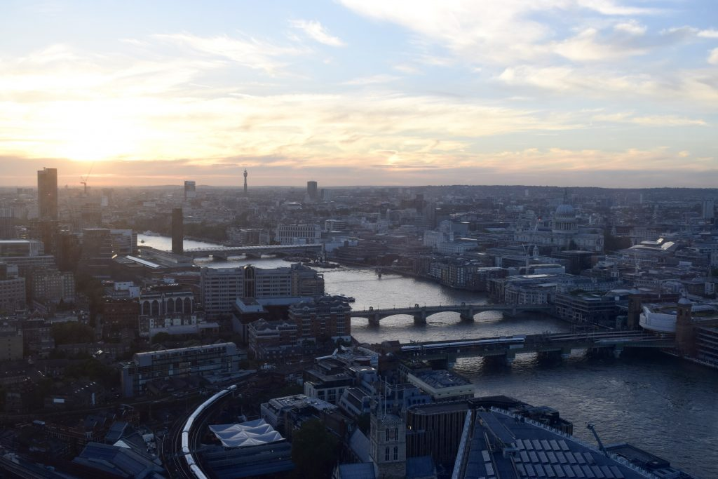 An Intimate London Wedding - views from celebratory dinner at Hutong at the Shard