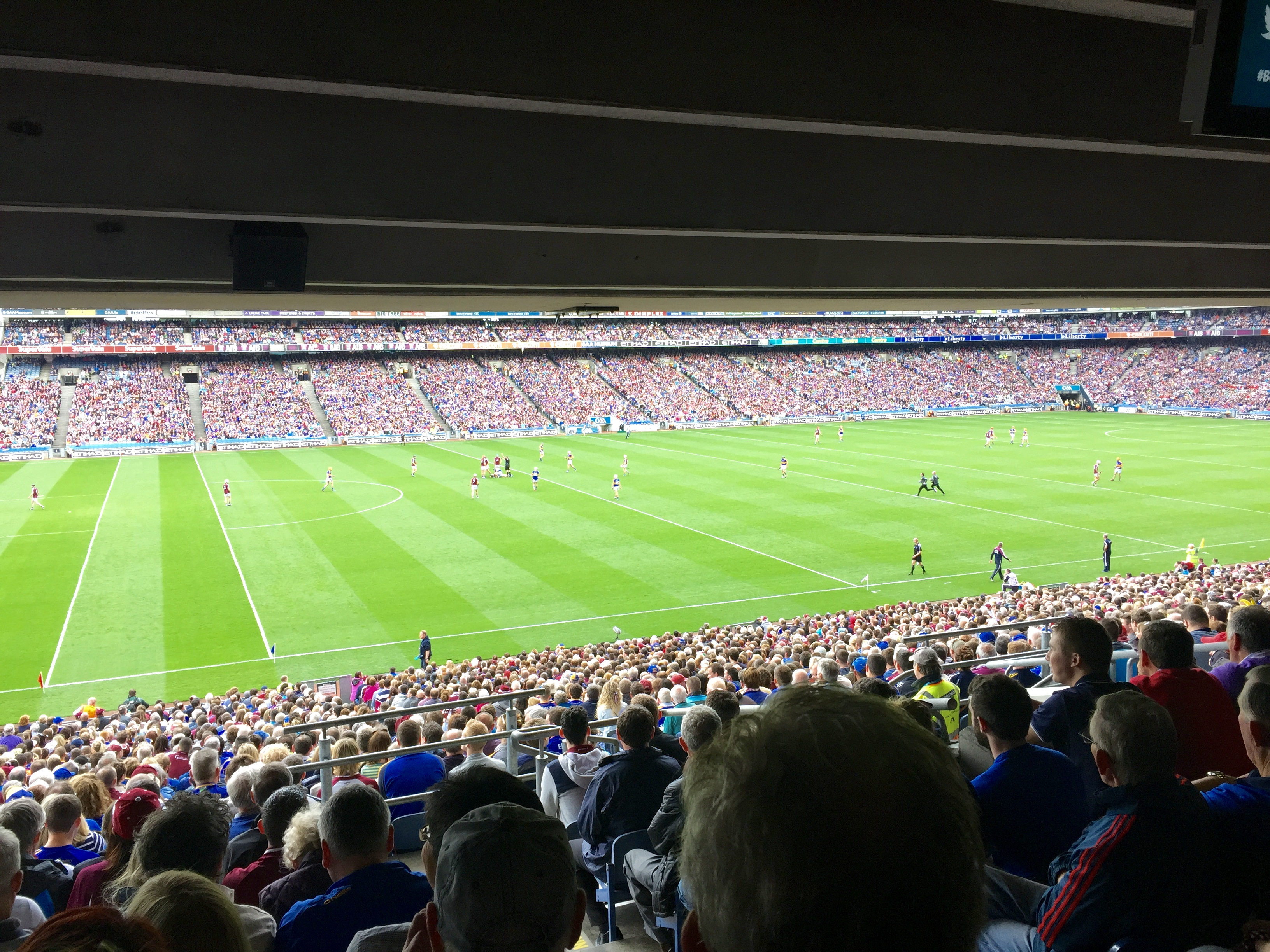 Image from a GAA Hurling match at Croke Park, Dublin
