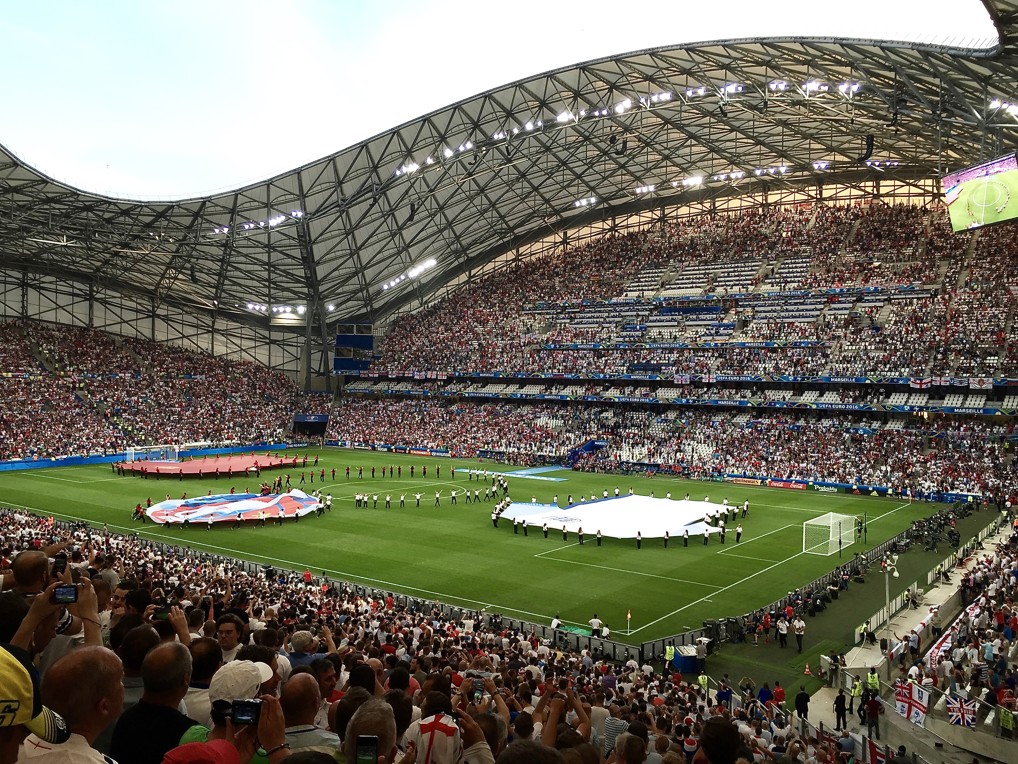 Image from England v. Russia at Euro2016 in Marseille, France