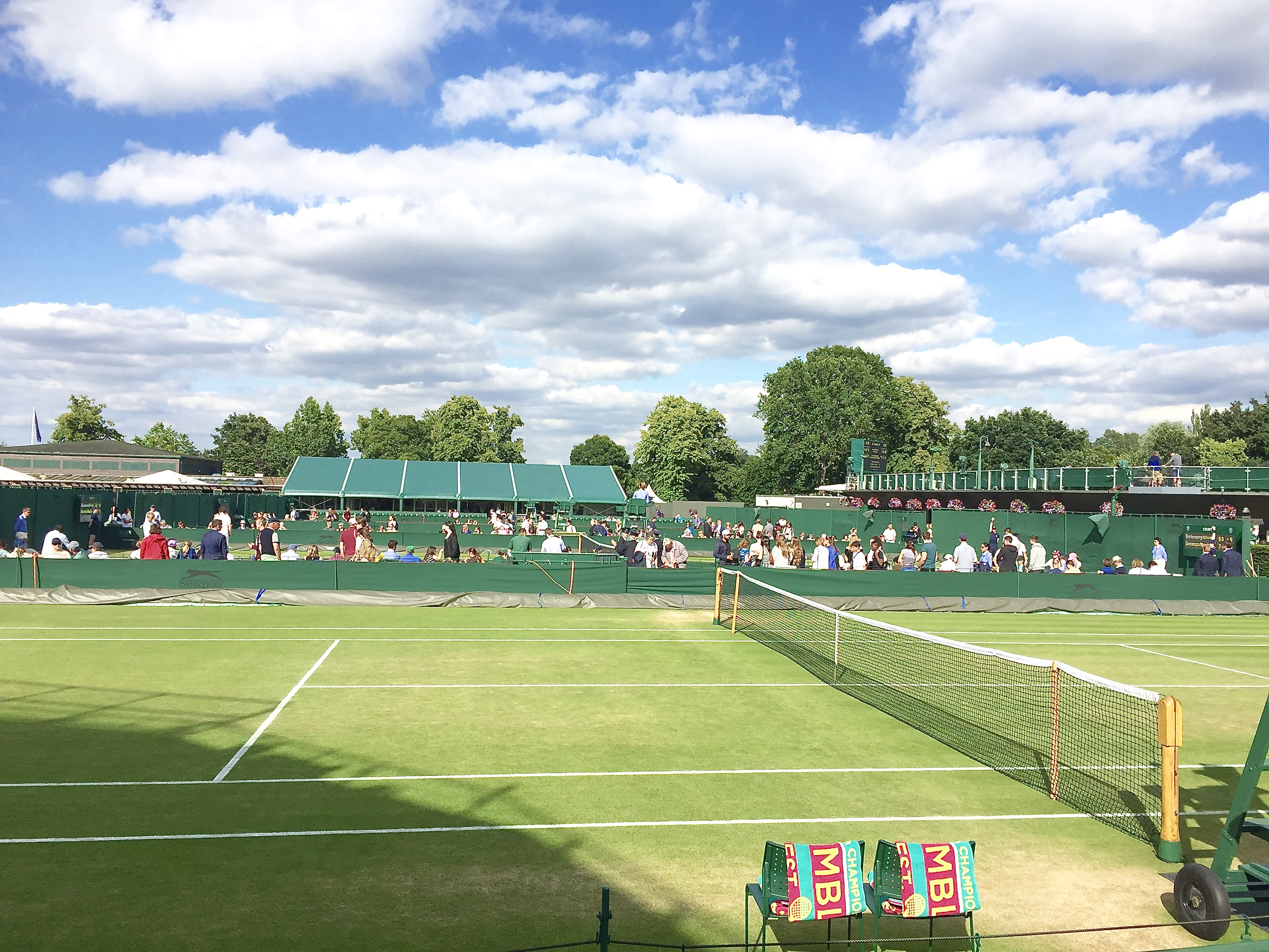 Lower courts at Wimbledon