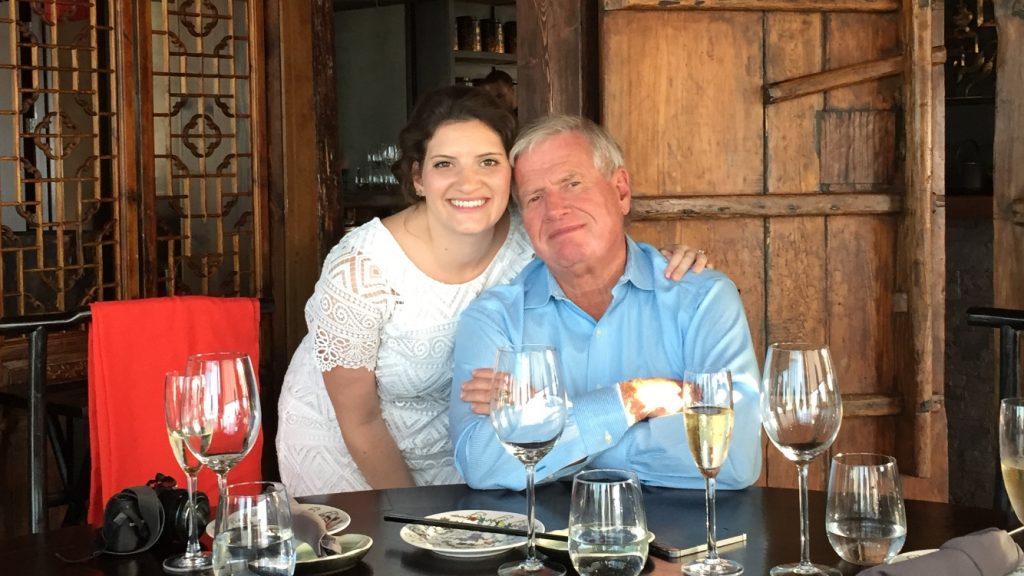 An Intimate London Wedding - celebratory dinner at Hutong at the Shard.