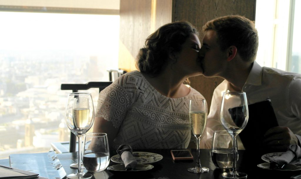 Our Intimate London Wedding - celebratory dinner at Hutong and the Shard