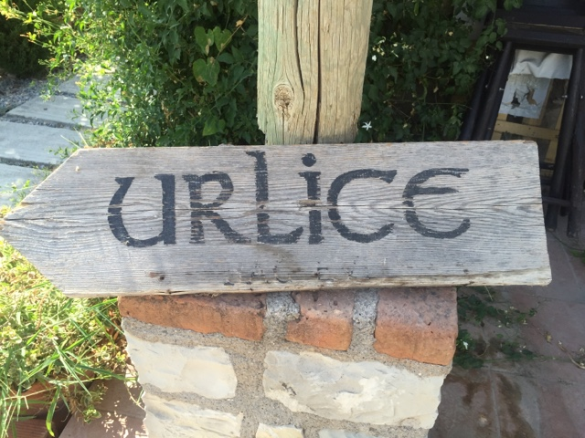 Welcome sign at Urlice Winery in the Turkish wine region of Urla
