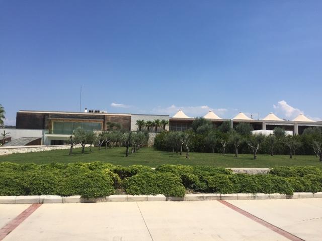 Modern exterior of Urla Winery in Urla, Turkey