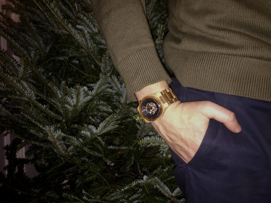 JORD Dover Koa & Black - Men's Watch - Wooden Watch