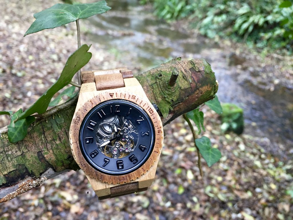 JORD Dover Koa & Black - Men's Watch - Wooden Watch
