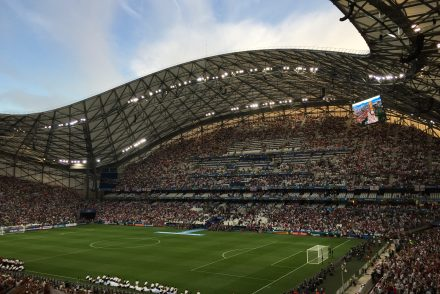 Image of the Marseille Stadium at an international sporting event, Euro2016
