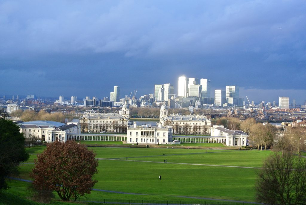 View overlooking London from Greenwich