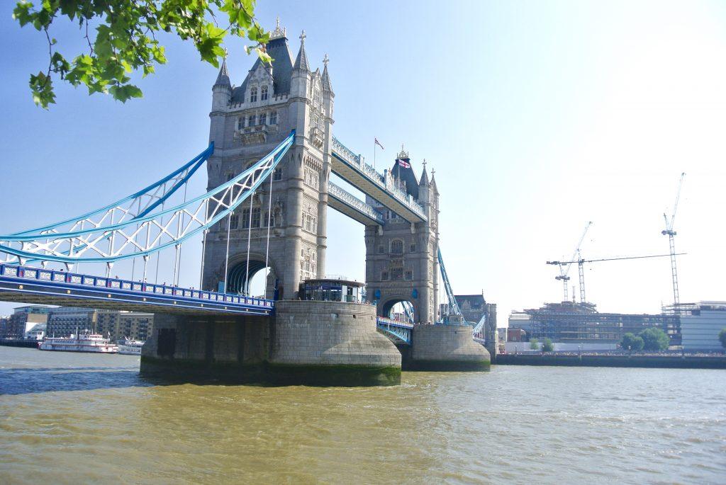 Image Tower Bridge on London summer day