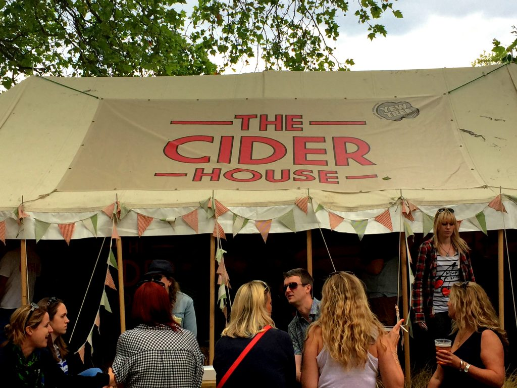 Cider Tent at London summer Foodies Festival 2015