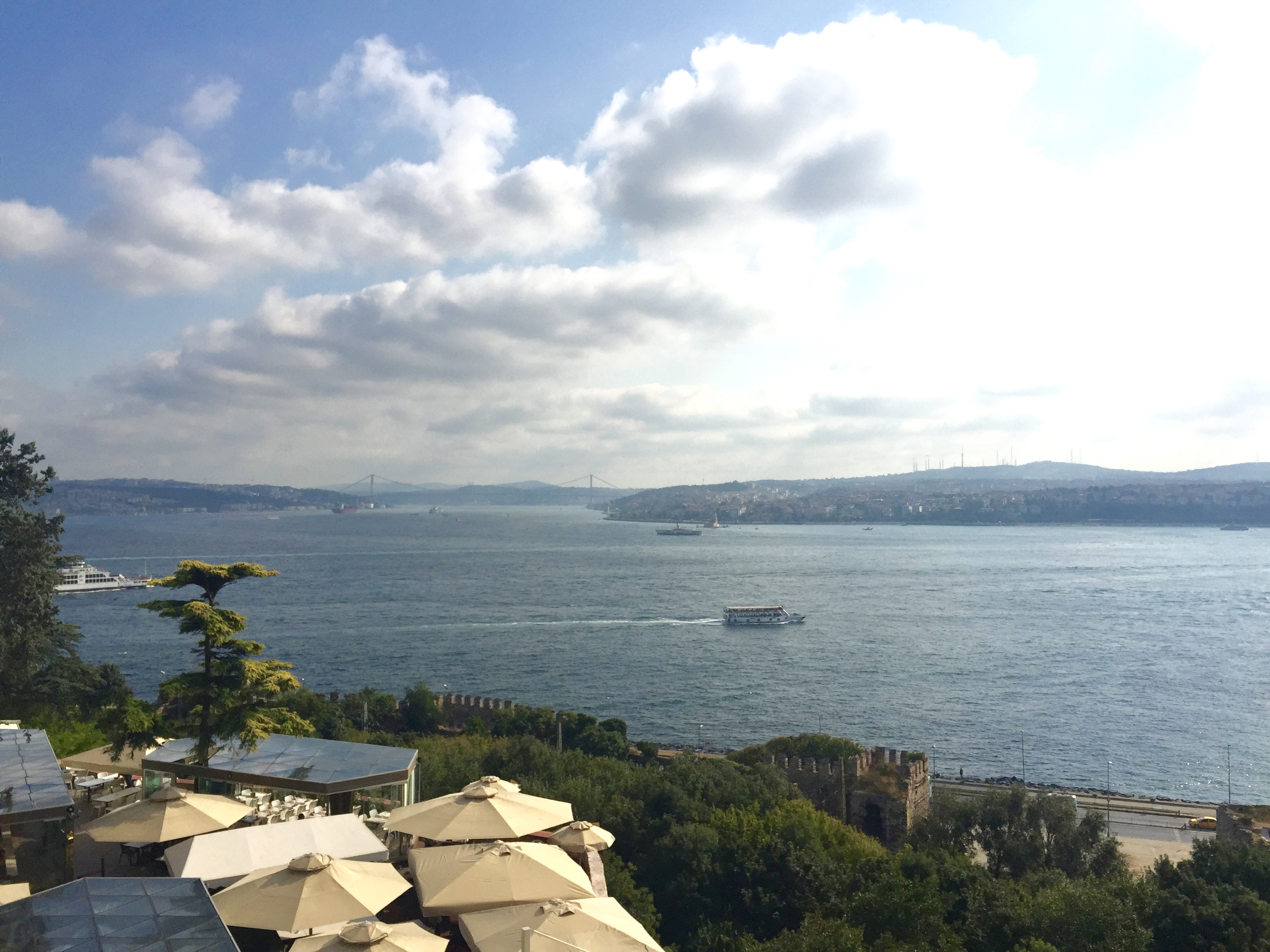 View from Topkapi Palace, Stop 1 on our Istanbul itinerary