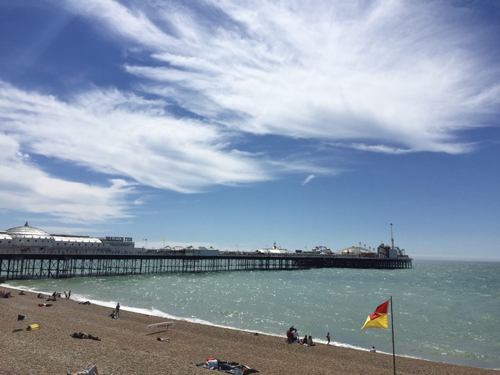 Image of Brighton beach and Brighton Pier on the seafront