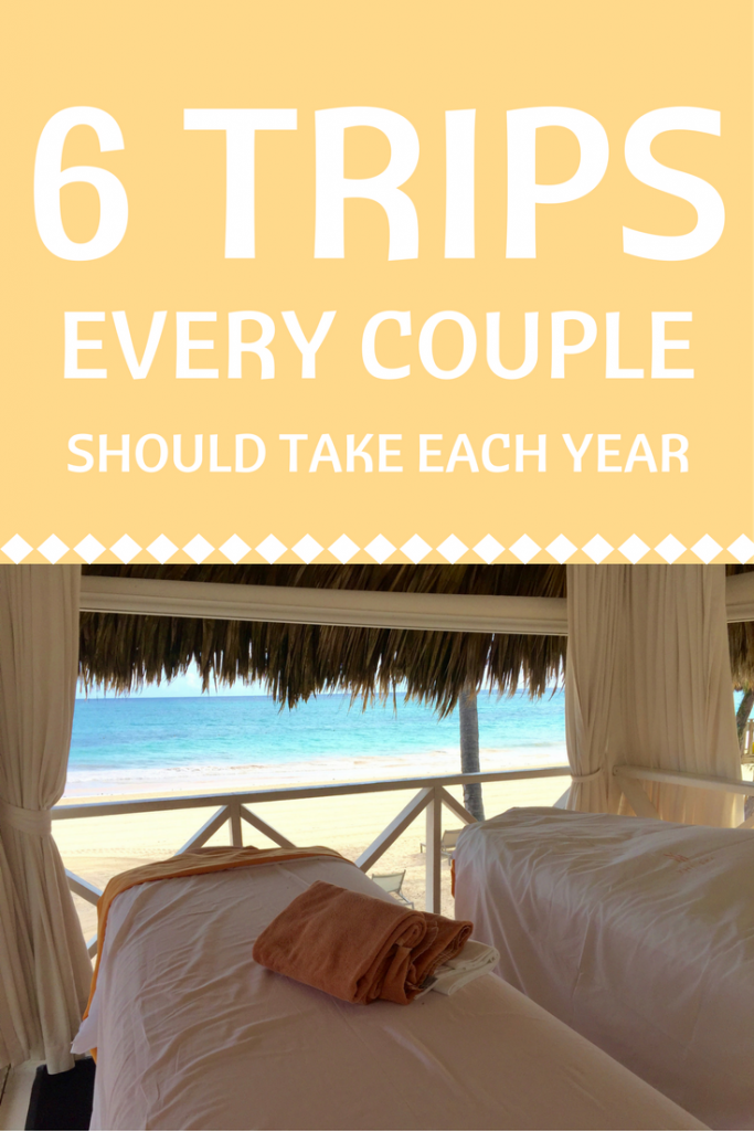 From staycations to massages on the beach, this is our list of the trips that couples should take each year - by A Pair of Passports