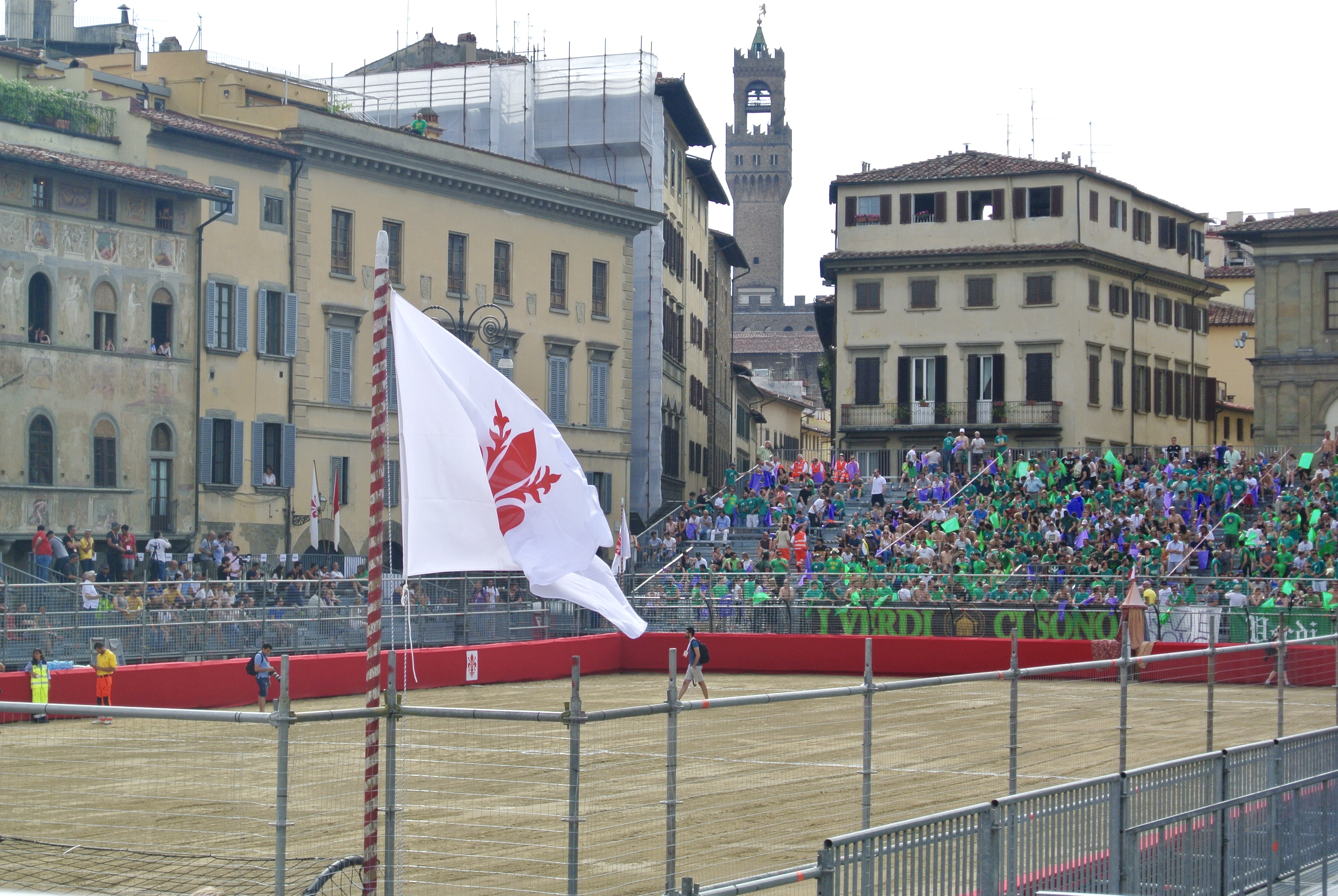 Image from Calcio Storico sporting event in Florence, Italy