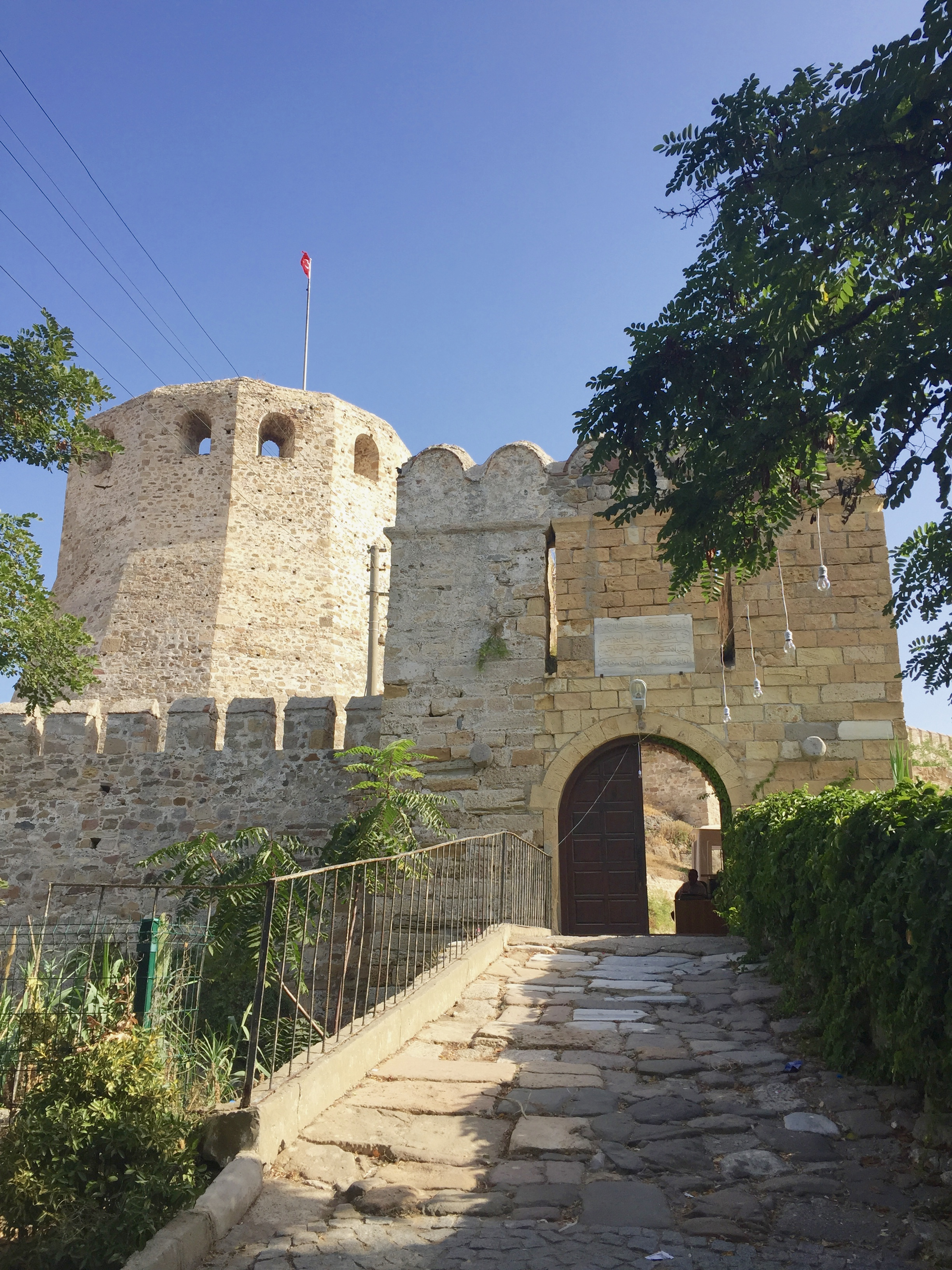 Bozcaada, Turkey has it's own fortress, located by the port on the island.