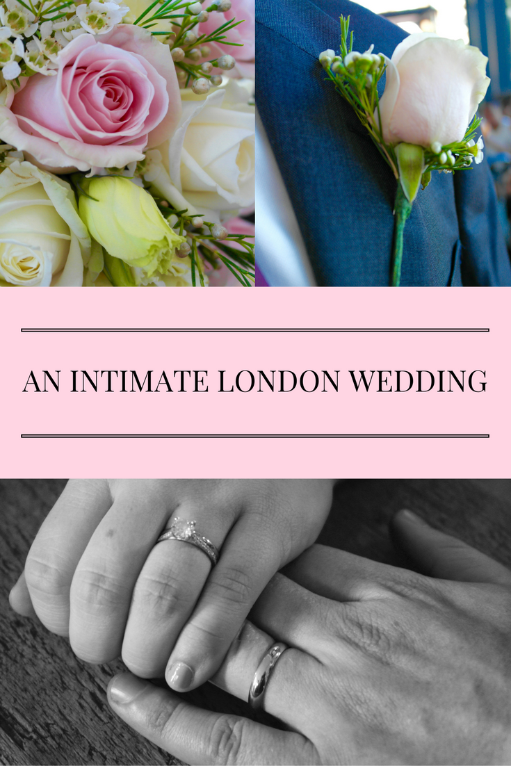 Pretty, soft, romantic - a look into an intimate London registrar office wedding followed by a celebratory dinner at the Shard