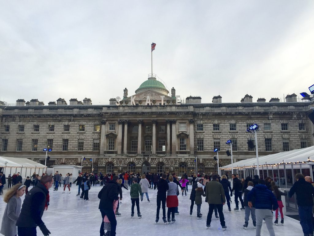Christmas in London - Ice Skating at Somerset House
