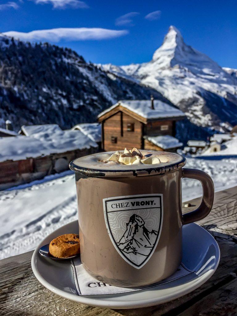 Break at Chez Vrony while skiing in Zermatt