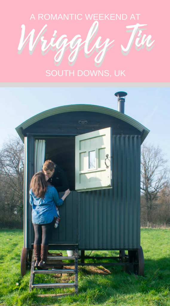 Enjoy the ultimate English countryside weekend at Wriggly Tin Shepherds Huts in South Downs National Park