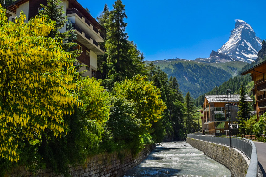 Vispa River - Zermatt, Switzerland - Photos of the Matterhorn