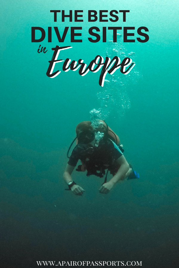 Go #Diving in #Europe with this list of AWESOME #SCUBA destinations in Europe, including: Malta, the UK, the Canary Islands, Hungary, and Iceland