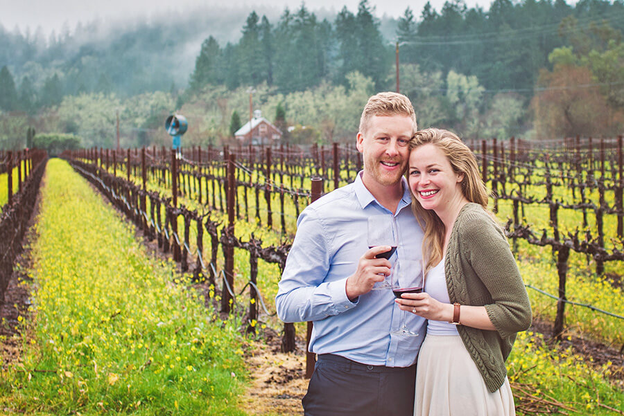 Most Romantic Experiences in the US - Wine Tasting Calistoga California