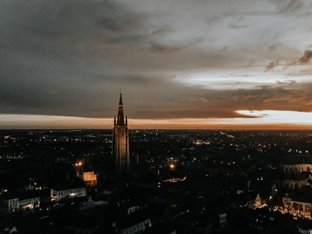 Belfry Tower at night - How to spend a weekend in Bruges