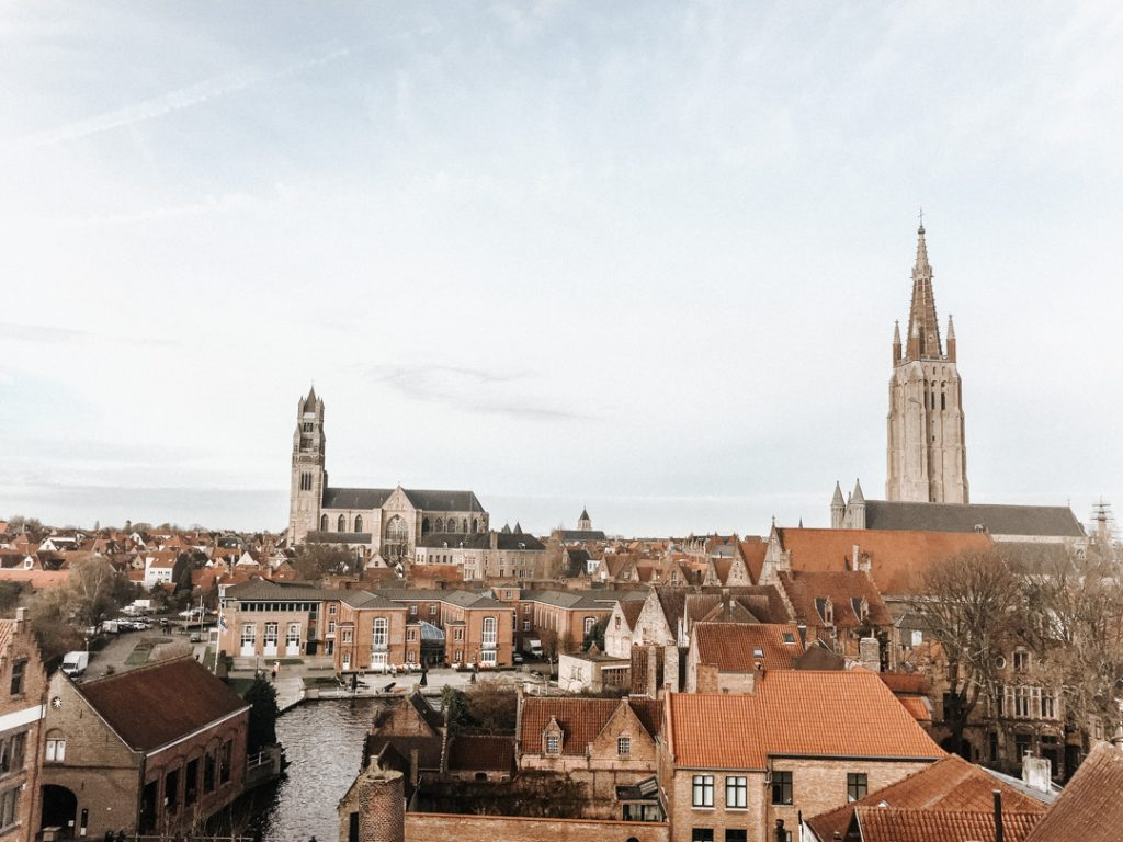 View of Bruges from De Halve Maan Brewery - How to spend a weekend in Bruges